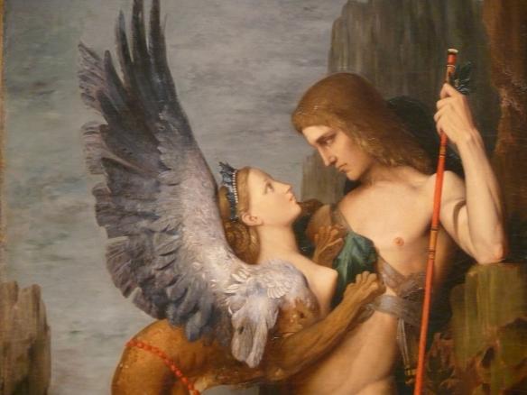 Gustave Moreau (1826-1898) - Œdipe et le Sphinx (détail), 1864