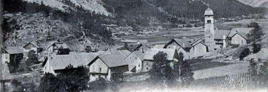Vallée de la Clarée : le village de Plampinet vers 1900
