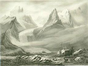 Samuel Birmann (suisse, 1793-1847) - A la Flégère, 1830