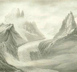 Samuel Birmann (suisse, 1793-1847) - A la Flégère (détail), 1830