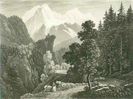 Samuel Birmann (suisse, 1793-1847)  - Aux Montées, 1830