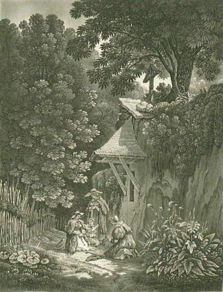 Samuel Birmann (suisse, 1793-1847) - Berg§res à l'oratorium, 1830