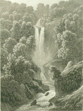Samuel Birmann (suisse, 1793-1847) - cascade de Chede, 1830