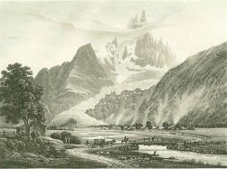 Samuel Birmann (suisse, 1793-1847) - Glacier des Bois, 1830
