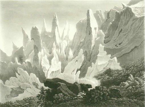 Samuel Birmann (suisse, 1793-1847)  - Glacier des Bossons, 1830