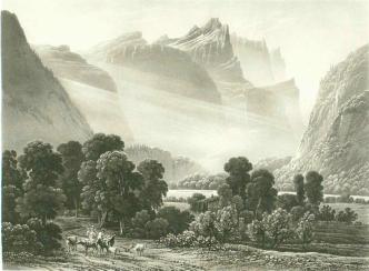 Samuel Birmann (suisse, 1793-1847) - Gorge de Cluse, 1826