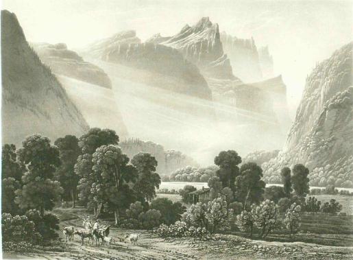 Samuel Birmann (suisse, 1793-1847) - Gorge de Cluse, 1830