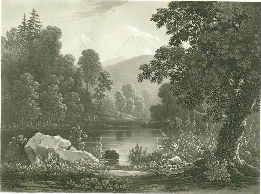 Samuel Birmann (suisse, 1793-1847)  - lac de Chède, 1830