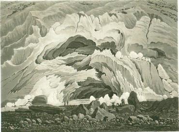 Samuel Birmann (suisse, 1793-1847) - source de l'Arveyron, 1830