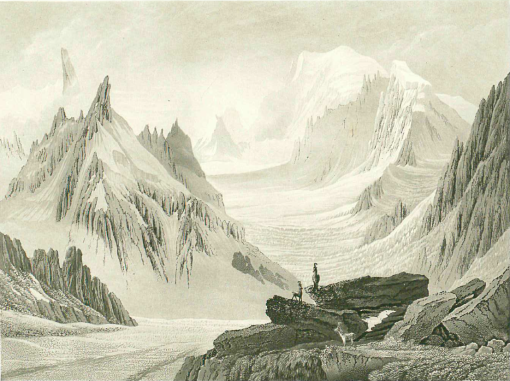 Samuel Birmann (suisse, 1793-1847)  - vue prise du Jardin, 1830