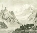 Samuel Birmann (suisse, 1793-1847) - vue prise du Jardin (détail), 1826