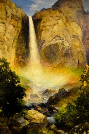 Thomas Moran - Bridalveil Falls, Yosemite Valley, 1904