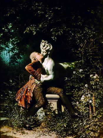 Heinrich Lossow (1840-1897) - Le Sphinx et le poète, 1868