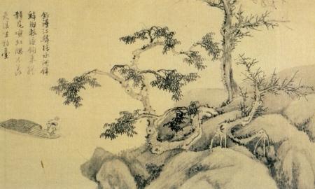 Wu Zhen - pêcheurs (détail), 1345 - Shanghai Museum