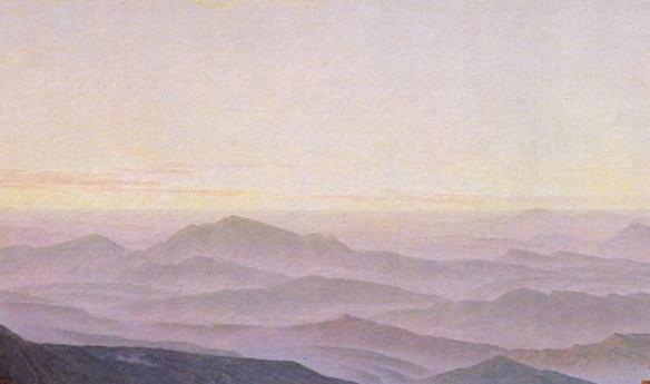 Friedrich - montagnes /vagues