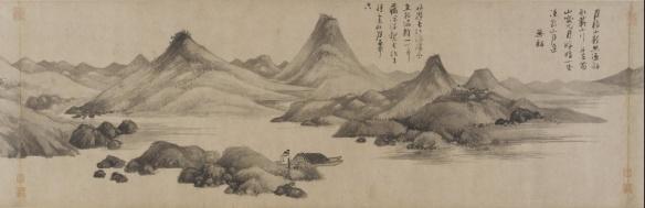 Wu Zhen (1280-1354) Yuan dynastie - Pêcheurs d'après Jing-Hao, vers 1341