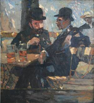Albert Weisgerber - Biergarten, 1904