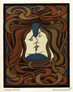 Peter Behrens - Der Kuss, 1898
