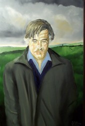 Homage to Ted Hughes by Reginald Gray. Held by Bankfield Museum, Yorkshire