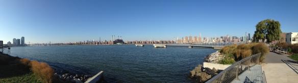 Manhattan et l'East River vus de Greenpoint - photo Enki, le 25/10/2014
