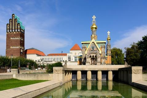 Mathildenhöhe à Darmstadt