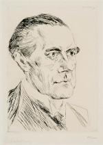 Peter Behrens (1868-1940) - portrait par Max Liebermann, 1923