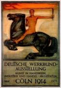 Peter Behrens - Deutsche Werkbund Ausstellung Kunst n Handwerk, Industrie und Handel Architektur Köln, 1914