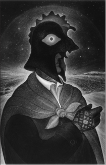 Portrait of Heber Fifield as a Great Mummer, 2000 — Courtesy of David Blackwood