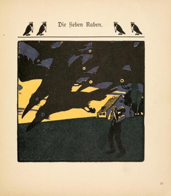 Weisgerber - illustration du conte Die Fieben Raben des Frères Grimm