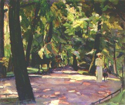 Weisgerber - promenade dans le jardin anglais, 1910