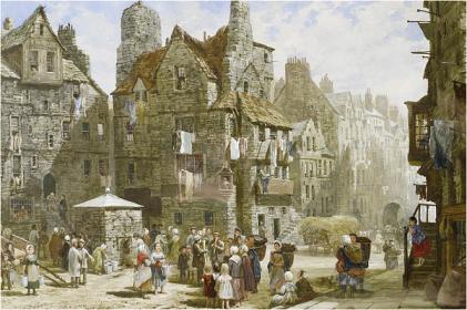 Louise Rayner - John_Knox's_House_Edinburgh_1861_75s3