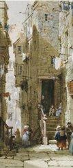 Louise Rayner - streetscenes_in_Edinburgh(1)