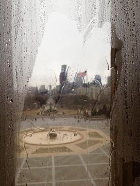 Vue des Gratte-ciels à partir des fenêtres du Philadephia Museum of Art - photo Enki