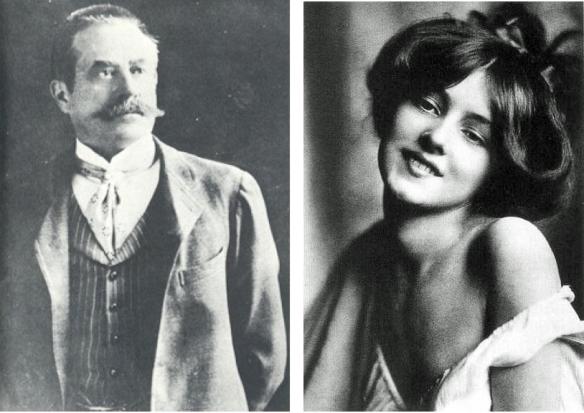 l'architecte Stanford White et sa jeune maîtresse Evelyn Nesbit
