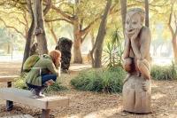 Stanford Campus Papouasie Nouvelle Guinée sculpture