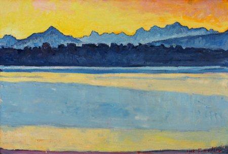 Ferdinand Hodler - le lac de Genève et le Mont-Blanc