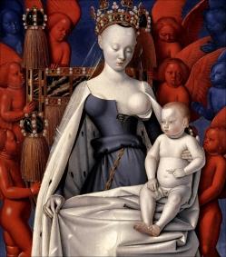 Jean Fouquet - la Vierge de Melun, vers 1452