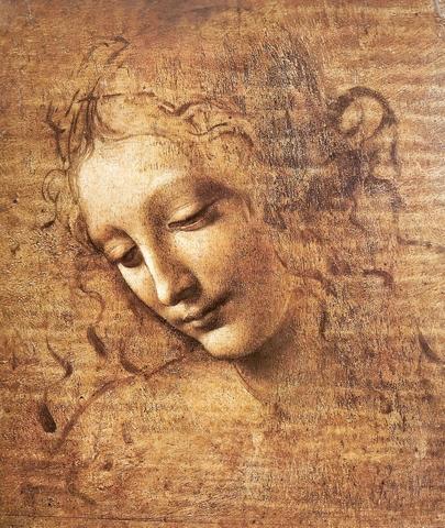 Leonard de Vinci - La Scapigliata (Portrait de jeune femme aux cheveux ébouriffés) vers 1508