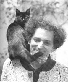 l'écrivain George Perec (1936-1982) et son chat