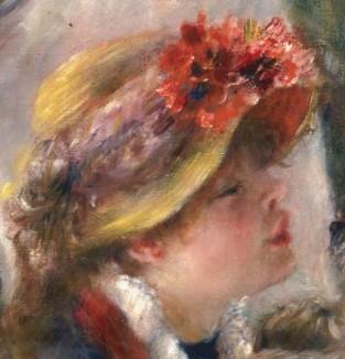 Pierre Auguste Renoir - Le déjeuner des canotiers (détail portrait d'Aline Charigot), 1884
