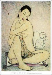 Woman and Cat | by Pan Yuliang