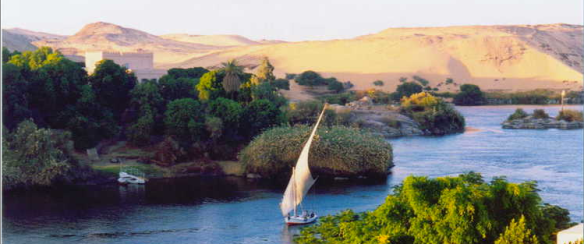 Felouque sur le Nil Bleu.