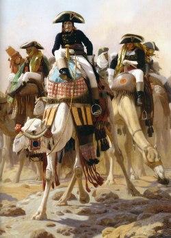 Jean-Léon Gérôme - Le Général Bonaparte et son état-major en Égypte,, 1867