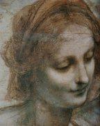Léonard de Vinci dessin préparatoire, La Vierge, l'Enfant Jésus avec sainte Anne et Saint Jean Baptiste