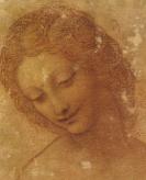 Leonard de Vinci - Tête de Léda (détail)