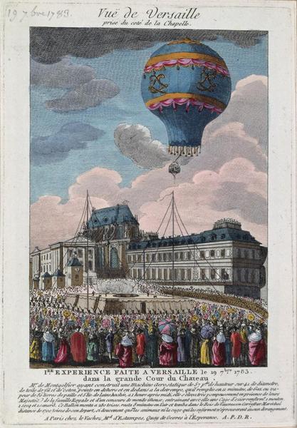 1er vol de montgolfière au château de Versailles, le 19 septembre 1783