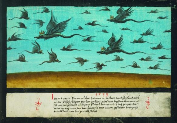 Dragons survolant la Bohème -