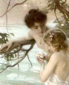 Chabas_-_Mother_and_child_bathing