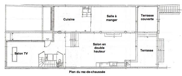 Fontgalland et André - Villa Masson à Issy-les-Moulineaux - plan du R-de-C