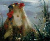 Henri Gervex - Portrait de la chanteuse d'opera australienne Nellie Melba comme Ophélie dans Hamlet, vers 1910.